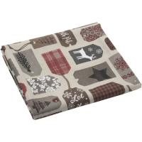 Mantel Navidad, 70% algodón - 30% poliéster, 140x240 cm