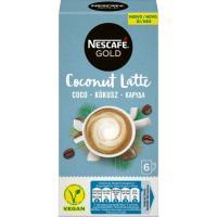Café coco latte NESCAFÉ Gold, pack 6x15 g