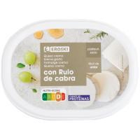Crema de queso rulo de cabra EROSKI, tarrina 150 g