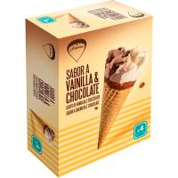 Cono de vainilla-chocolate AMARE, pack 4x120 ml