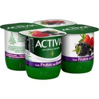 Activia con frutas del bosque DANONE, pack 4x120 g