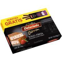 Turrón yogufresa + 3 sticks 70% DELAVIUDA, caja 236 g