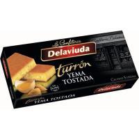 Turrón de yema tostada DELAVIUDA, caja 250 g