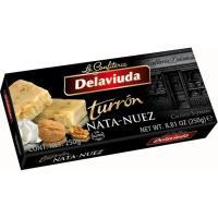 Turrón de nata-nuez DELAVIUDA, caja 250 g