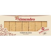 Porciones de turrón blando EL ALMENDRO, caja 420 g