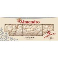 Porciones de turrón duro EL ALMENDRO, caja 400 g