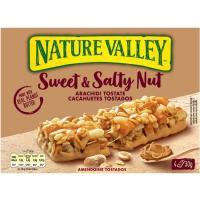 Barrita de cereales s&s caramelo NATURE VALLEY, caja 120 g