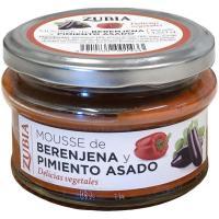Mousse de berengena-pimiento asado ZUBIA, frasco 130 g
