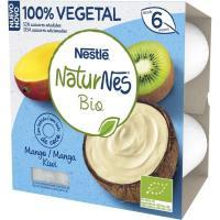 Postre vegetal de mango-kiwi bio NESTLÉ, pack 4x90 g
