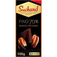 Chocolate fino 70% nueces pecanas SUCHARD, tableta 100 g