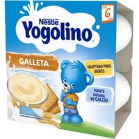 Yogolino natillas con galleta NESTLÉ, pack 4x100 g