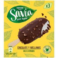Bombón de chocolate-avellanas SAVIA, pack 3x75 g