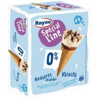 Cono de vainilla sin azúcares ROYNE, pack 4x120 g