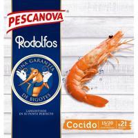 Langostinos vannamei enteros cocidos 15/20 PESCANOVA, caja 260 g