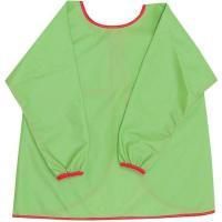 Bata verde con mangas impermeable y transpirable, cierre con cintas, TITIN