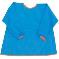 Bata azul con mangas impermeable y transpirable, cierre con cintas, TITIN