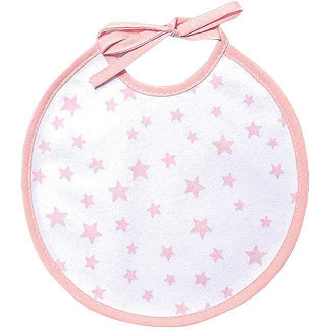 Babero de punto, rosa gris, impermeable estampado con cintas TITIN, 19X19cm, 2uds