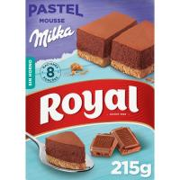 Pastel de mousse de chocolate Milka ROYAL, caja 215 g