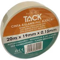 Cinta aislante blanca TACK, 20m x 19mm