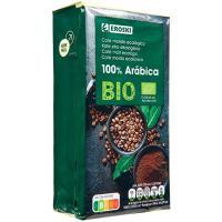 Café molido 100% arábicas EROSKI BIO, paquete 250 g