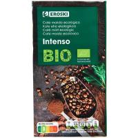Café molido intenso EROSKI BIO, paquete 250 g