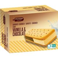 Sandwich de vainilla-chocolate  MASTRO GELATO, pack 6x100 ml
