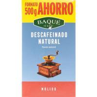 Café molido descafeinado natural BAQUÉ, paquete 500 g