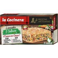Lasaña 5 colores LA COCINERA, caja 500 g