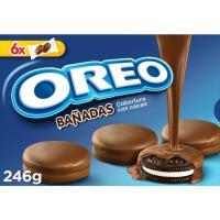 Galleta bañada de chocolate con leche OREO, caja 246 g