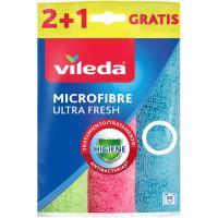Bayeta microfibra ultrafresh VILEDA, pack 2+1 uds.
