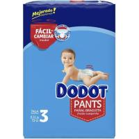 Pañal pants azul jumbo Talla 3 DODOT, caja 72 uds.