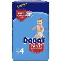 Pañal pants azul jumbo 9-15 kg Talla 4 DODOT, paquete 66 uds.