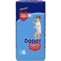 Pañal pants azul jumbo +15 kg Talla 6 DODOT, paquete 56 uds.