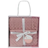 Manta de bebé de color rosa maquillaje, tacto extrasuave INTERBABY, 80X110cm