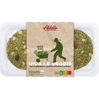 Hamburguesa vegetal de espinacas-queso ALDELIS, bandeja 226 g
