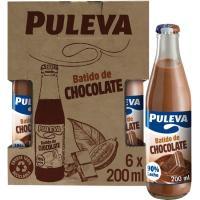 Batido de cacao cristal PULEVA, pack 6x200 ml