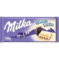 Chocolate de oreo blanco MILKA, tableta 100 g
