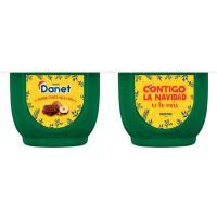 Natillas de chocolate y avellanas DANET, pack 4x120 g