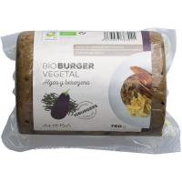 Bio burger vegetal de algas y berenjena AHIMSA, paquete 750 g