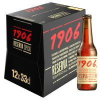 Cerveza extra reserva especial 1906, pack botellín 12x33 cl