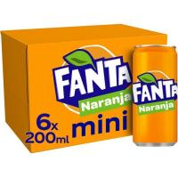 Refresco de naranja FANTA, pack 6x20 cl