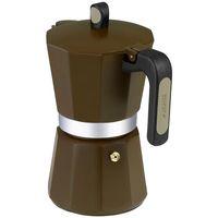 Cafetera de aluminio New Cream, apto para todo tipo de cocinas, MONIX, 6 tazas