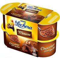 Mousse de chocolate LA LECHERA, pack 4x59 g