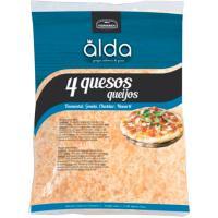 Queso rallado 4 quesos ALDA, bolsa 150 g