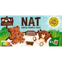 Cereales ositos de chocolate NAT, caja 192 g