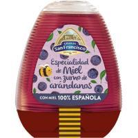 Miel con zumo de arándanos G. SAN FRANCISCO, dosificador 350 g