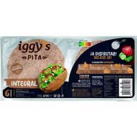 Pan pita integral IGGY'S, 6 uds, paquete 375 g