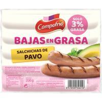 Salchicha de pavo BG CAMPOFRÍO, sobre 200 g