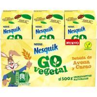 Bebida de avena y cacao al natural NESQUIK, pack 3x180 ml