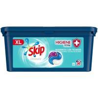 Detergente en cápsulas higiene SKIP Ultimate, caja 30 dosis